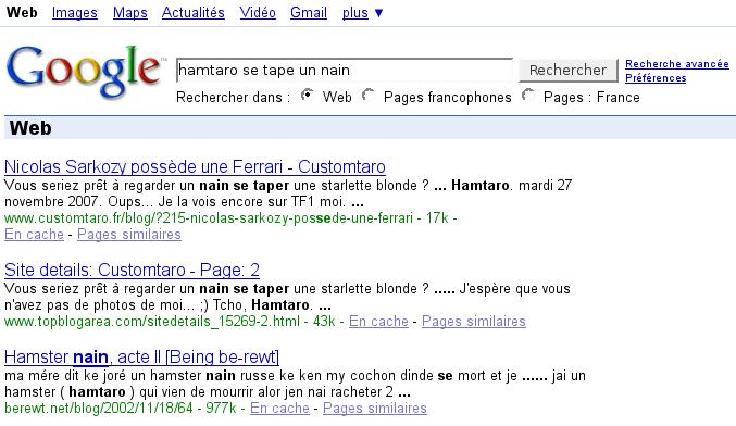 Recherche Google Hamtaro